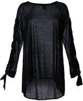 Thomas Wylde sleeve slit top - women - Lyocell - L