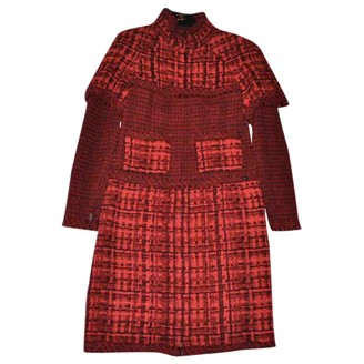Chanel Red Tweed Dresses
