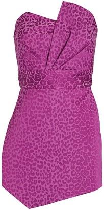 Mason by Michelle Mason Leopard Jacquard Mini Dress
