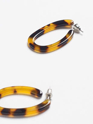 White Stuff Tortoise Shell Hoop Earring