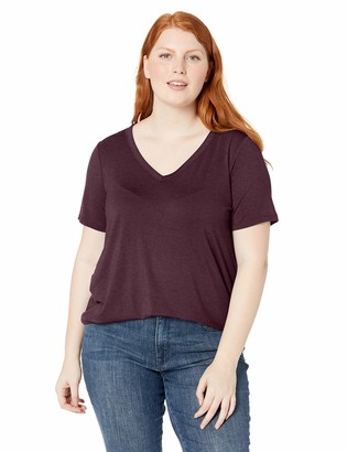Daily Ritual Plus Size Jersey Short-sleeve V-neck T-shirt