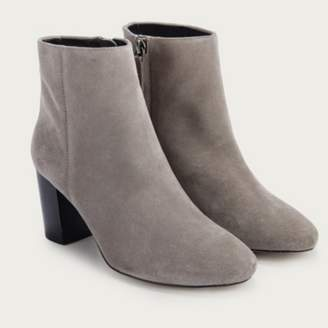 The White Company Block Heel Ankle Boots, Grey, 36