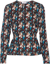 Tanya Taylor Heather printed silk top
