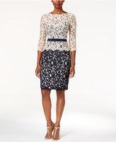 Tadashi Shoji Lace Colorblocked Sheath Dress