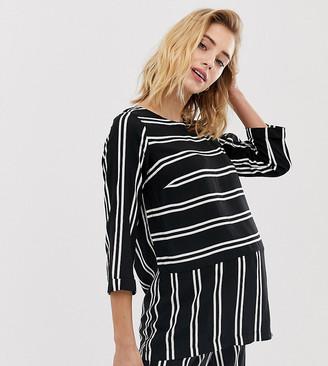 Mama Licious Mamalicious maternity stripe woven top