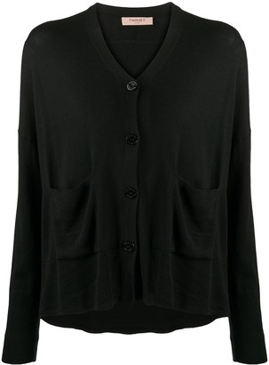 Twin-Set Slouchy Button-Front Cardigan