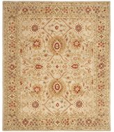 Safavieh Anatolia Collection AN516B Handmade Grey Beige and Sage Wool Area Rug, 8 feet by 10 feet
