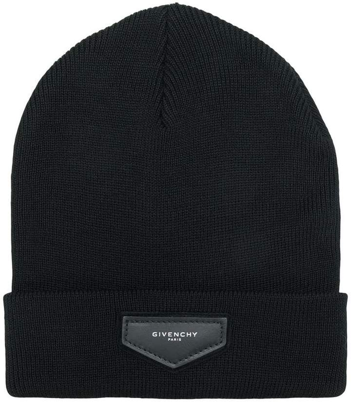 Givenchy logo knitted beanie hat