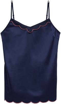 Ginia Embroidered Satin Camisole