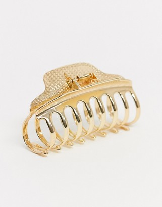 ASOS DESIGN hair claw in gold tone