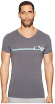Emporio Armani Pop Stripe Stretch Cotton Crew Neck Men's T Shirt
