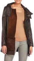 Nicholas K Sandro Convertible Leather Jacket