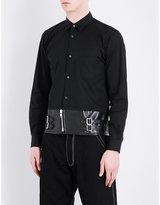 Comme Des Garcons Shirt Leather Panel Shirt