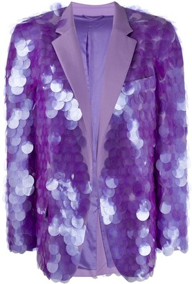 ATTICO Oversized Sequin Blazer