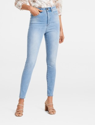 Forever New Bella High-Rise Sculpting Jeans - Venice Blue - 12