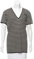 Saint Laurent Striped Wool Tunic