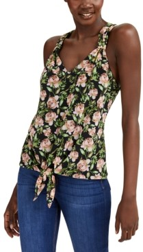 INC International Concepts Inc V-Neck Tie-Front Tank Top, Created for Macy's