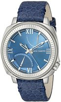 Vince Camuto Men's VC/1003NVSV The Veteran Navy Blue Leather Strap Watch