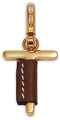 Burberry Leather-Wrapped T Letter Charm Enhancer
