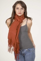LoveQuotes Scarves Love Quotes Linen Knotted Fringe Scarf in Paprika