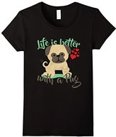 Women's Lifes Better With A Pug Tshirt XL
