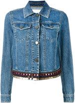 Bazar Deluxe - embellished hem denim (Blue) jacket - women - Cotton - 42