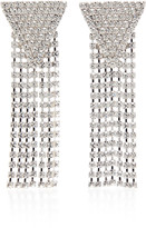 Alessandra Rich Fringed Silver-Tone Crystal Earrings