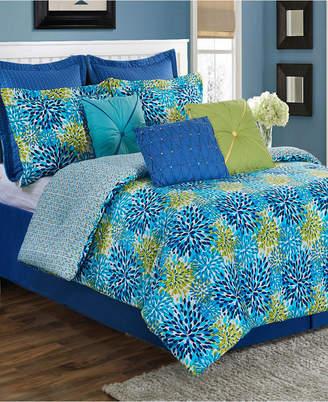 Fiesta Calypso Garden 3-Piece Twin Comforter Set Bedding