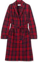 Three J NYC Checked Cotton-flannel Robe