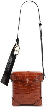 MANU Atelier Pristine Mini Croc-effect Leather Camera Bag