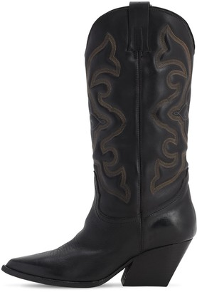 Elena Iachi 70MM LEATHER TALL COWBOY BOOTS