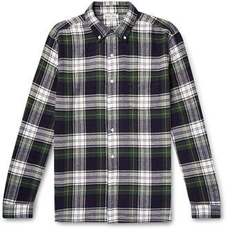 Alex Mill Button-Down Collar Checked Cotton-Flannel Shirt