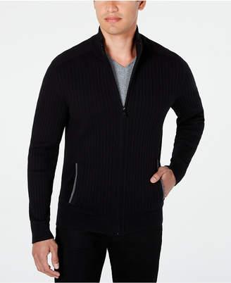 Alfani Men Ribbed Full-Zip Sweater, Classic Fit