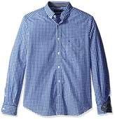 Nautica Men's Big and Tall Long Sleeve Gingham Plaid Button Down Shirt