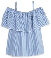 Aqua Girls' Off the Shoulder Ruffle Top, Big Kid - 100% Exclusive