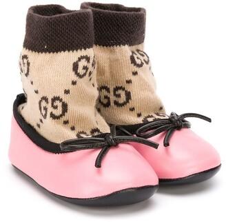 Gucci Kids Logo Sock Ballerinas