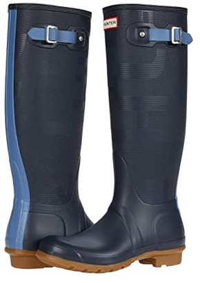 Hunter Tall Exploded Logo (Navy/Gill Wave) Women's Boots