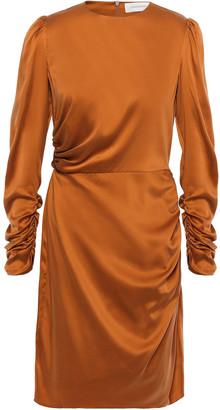 Zimmermann Draped Stretch-silk Charmeuse Mini Dress