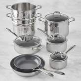 Williams-Sonoma Williams Sonoma Zwilling Titanium Ceramic Nonstick 12-Piece Cookware Set
