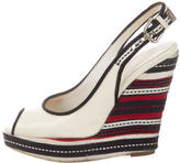 Dolce & Gabbana Patent Leather Slingback Wedges