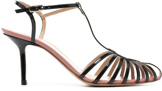 Francesco Russo Cut-Out Detail Pointed Toe Sandals