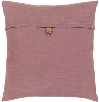 Overstock Demetra Traditional Button Mauve Feather Down Fill Throw Pillow 20-inch