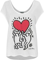 Junk Food Clothing Keith Haring Raising Heart Women's Tank Top (L)