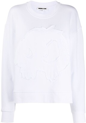 Mcq Swallow Raw Edge Applique Jumper