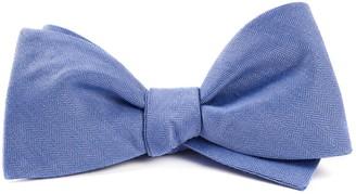 Tie Bar Linen Row Light Blue Bow Tie