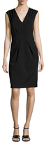 Ava & Aiden Front Pleat And Gather Sheath Dress