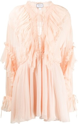 Redemption Ruffled Design Mini Dress