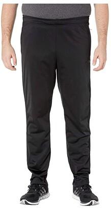 adidas Big Tall Essentials 3-Stripe Tricot Pant Tapered (Black/Black) Men's Workout