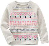 Osh Kosh Toddler Girl Geometric French Terry Sweatshirt