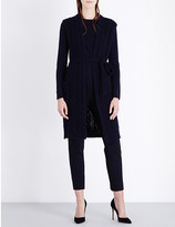 Max Mara Tie-waist cable-knit wool and cashmere-blend gilet